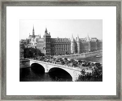 Pont Neuf, Paris, C. 1889 Framed Print by Everett