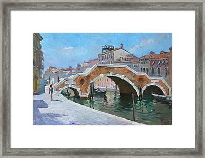 Ponte Di Tre Archi Venice Framed Print