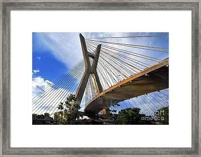 Ponte Estaiada Octavio Frias De Oliveira Ao Cair Da Tarde Framed Print