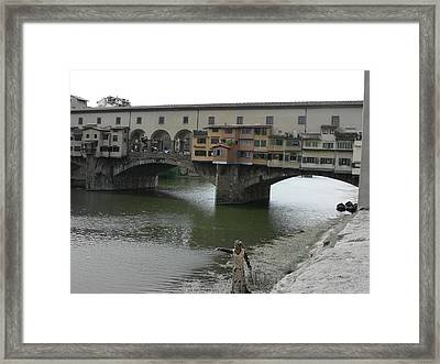 Framed Print featuring the photograph Ponte Vecchio by Laurel Best