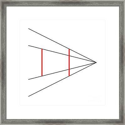 Ponzo Illusion Framed Print