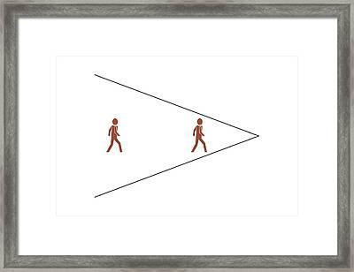 Ponzo's Illusion Framed Print
