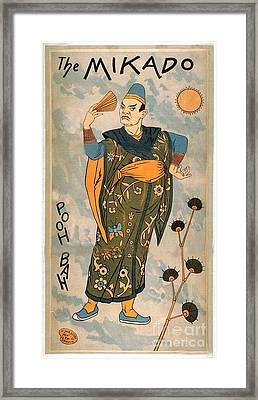 Poo Bah From The Mikado Framed Print