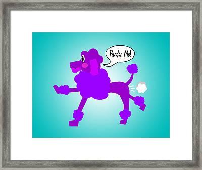 Poodle Fart Framed Print