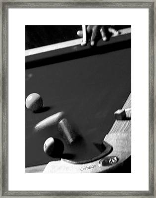 Pool Balls Framed Print by Chris Berry