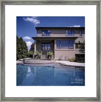 Pool Behind Home Framed Print