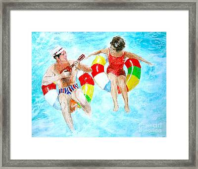 Framed Print featuring the drawing Pool by Beth Saffer