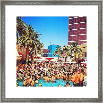 Pool Party At #encorehotel Framed Print