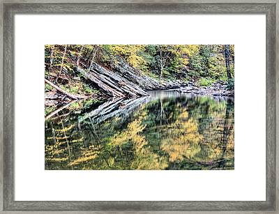 Pooling Colors Framed Print by JC Findley