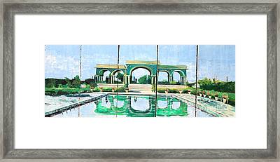 Poolside In Basrah Framed Print by Unknown - Local Iraqi National