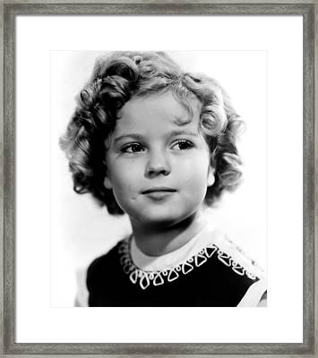 Poor Little Rich Girl, Shirley Temple Framed Print
