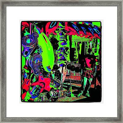 Pop Art Carny #abstract #pop #art Framed Print