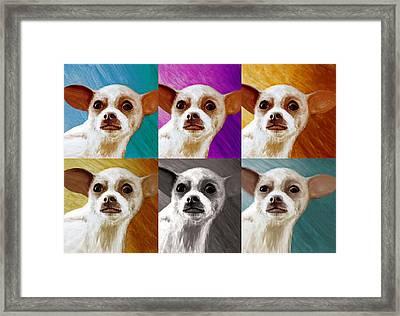 Pop Art Chihuahua  Framed Print by Jeff Mueller