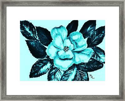 Pop Art Rose Framed Print by Marsha Heiken