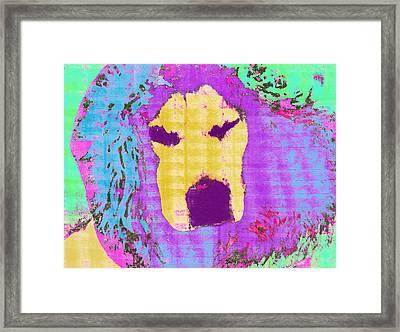 Pop Dog Framed Print