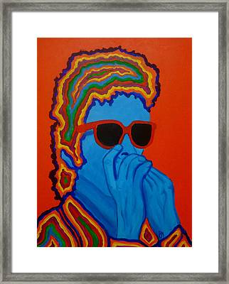 Pop Dylan Framed Print by Pete Maier