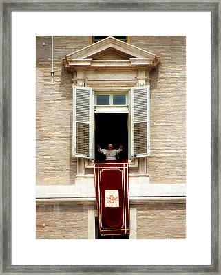 Pope Benedict Xvi A Framed Print by Andrew Fare