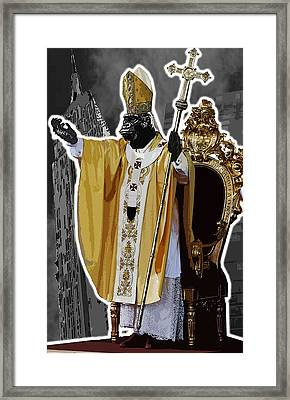 Pope King Kong Framed Print by Travis Burns