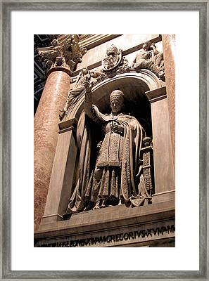Pope Leo Xii At The Vatican Framed Print