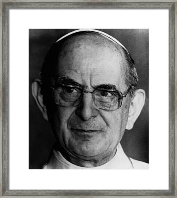 Pope Paul Vi, 1974 Framed Print