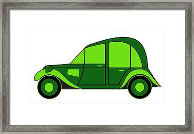 Pope's New Car Framed Print by Asbjorn Lonvig