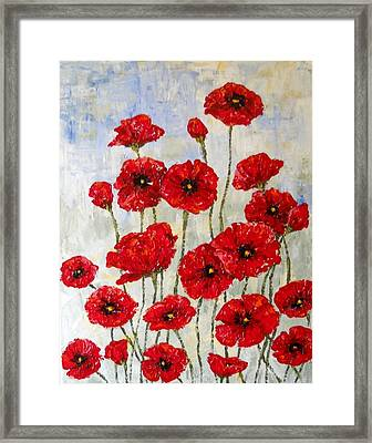 Poppie Field Framed Print