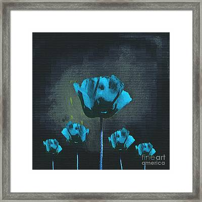Poppies Fun 01 - Bb Framed Print by Variance Collections