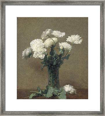 Poppies Framed Print by Ignace Henri Jean Fantin-Latour