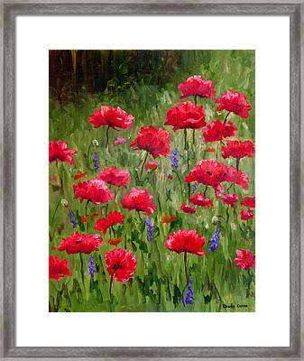 Poppies In A Meadow I Framed Print