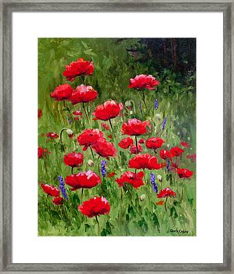 Poppies In A Meadow II Framed Print