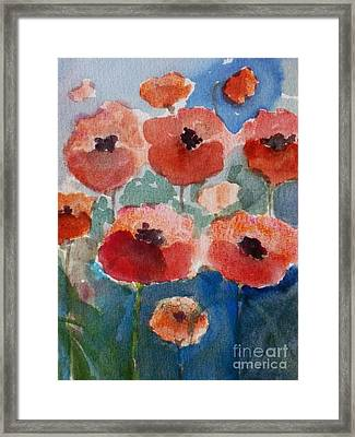 Poppies In June Framed Print