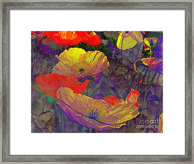 Framed Print featuring the mixed media Poppies by Irina Hays
