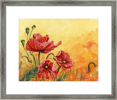 Poppies Framed Print by Kurt Jacobson