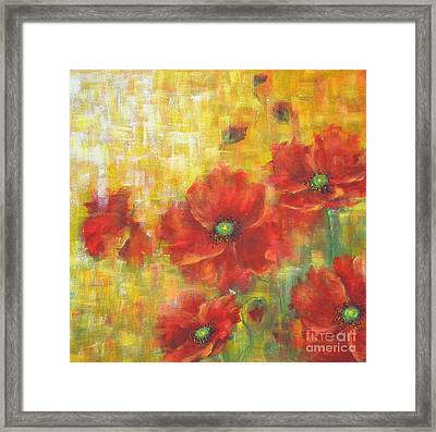 Poppies On A Sunny Day Framed Print