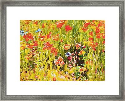 Poppies Framed Print by Pg Reproductions