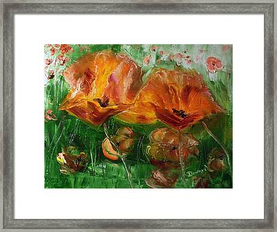 Poppies Framed Print by Raymond Doward