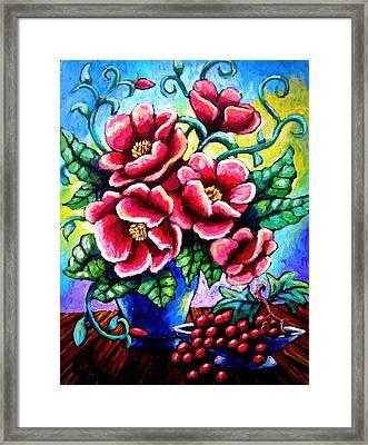 Poppin' Poppies Framed Print