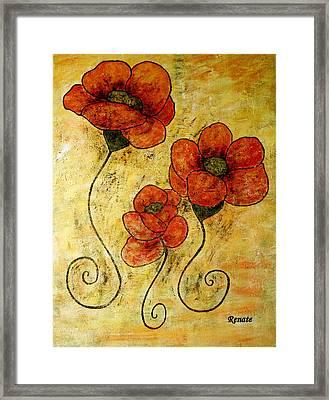Poppy-art Framed Print