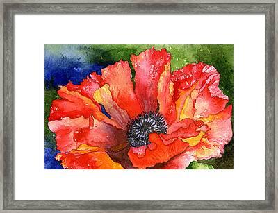 Poppy Framed Print by Eunice Olson
