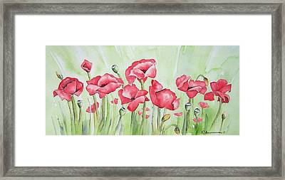 Poppy Field Framed Print by Regina Ammerman