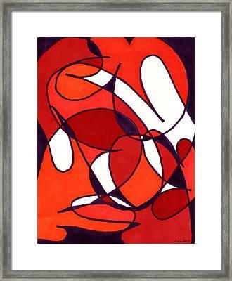Poppy Fields Framed Print by Lesa Weller