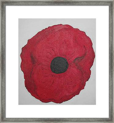 Framed Print featuring the photograph Poppy Of Rememberance by Martin Blakeley