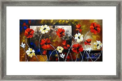 Poppy Spectrum Framed Print by Uma Devi