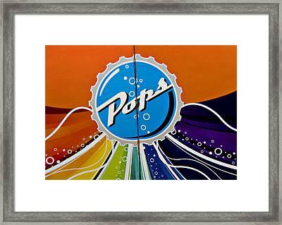 Pops Iv Framed Print by Malania Hammer