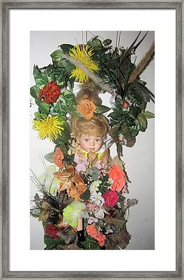 Porcelain Doll Arrangement Framed Print by HollyWood Creation By linda zanini
