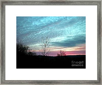 Porcelain Sky Framed Print by Christian Mattison