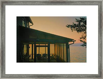 Porch At Dawn Framed Print by Steven Ainsworth