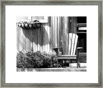 Porch Buddies Framed Print by Michael Swanson