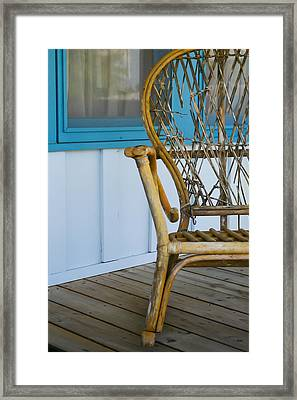Porch Chair Framed Print