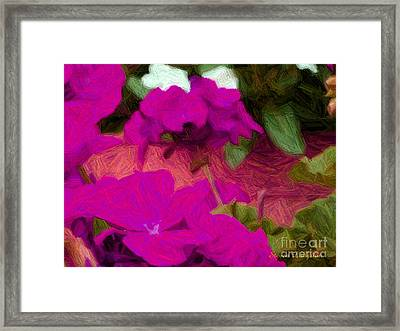 Porch Peddle Framed Print